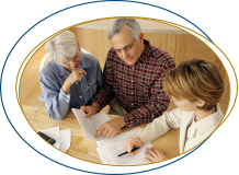 Couple talking with Estate Planning attorney